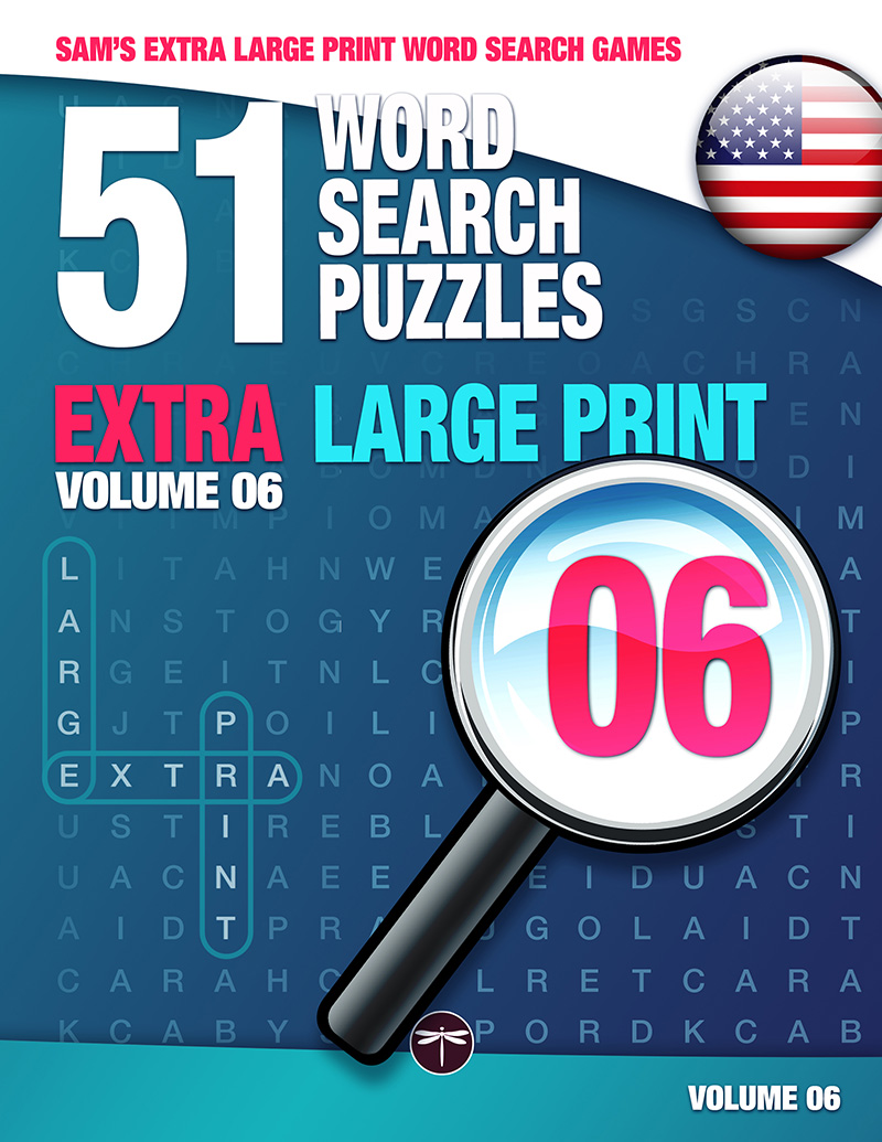 Sam's Extra Large Print word search books volume 6