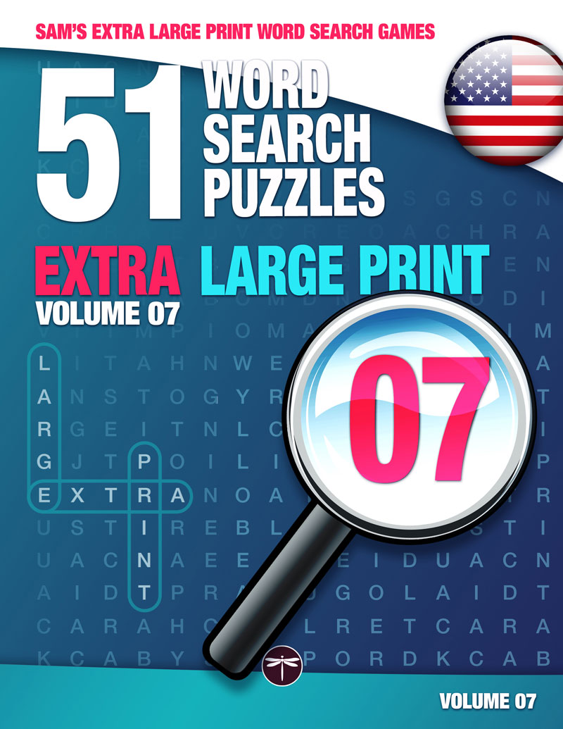 Sam's Extra Large Print word search books volume 7